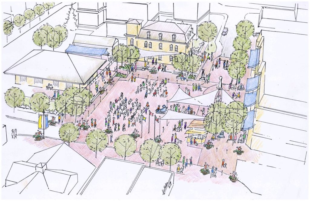 Victoria Square landscape design drawing